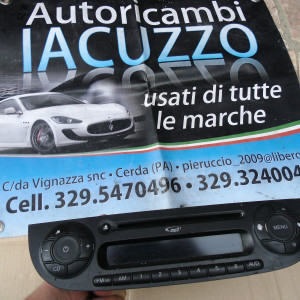 STEREO ORIGINALE MP3 FIAT 500 2007 IN POI