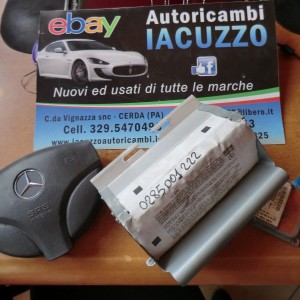 KIT AIRBAG COMPLETO DI CENTRALINA MERCEDES CLASSE A 0285001222